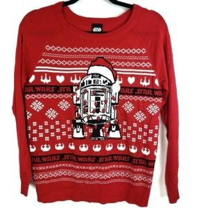 Starwars r2d2 Christmas sweater Red White Holiday